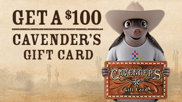 Reliant Rodeo Plan with Hugo presenting Cavandar's $100 gift card