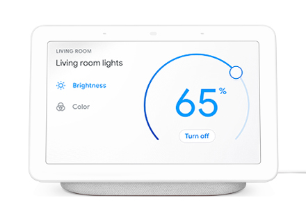 Google Home Hub efficiency dashboard