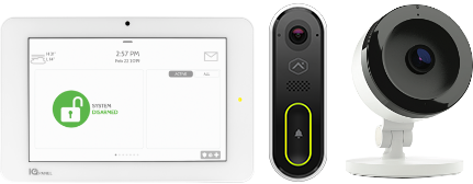 Security products - Control panel - Doorbell camera - Indoor camera