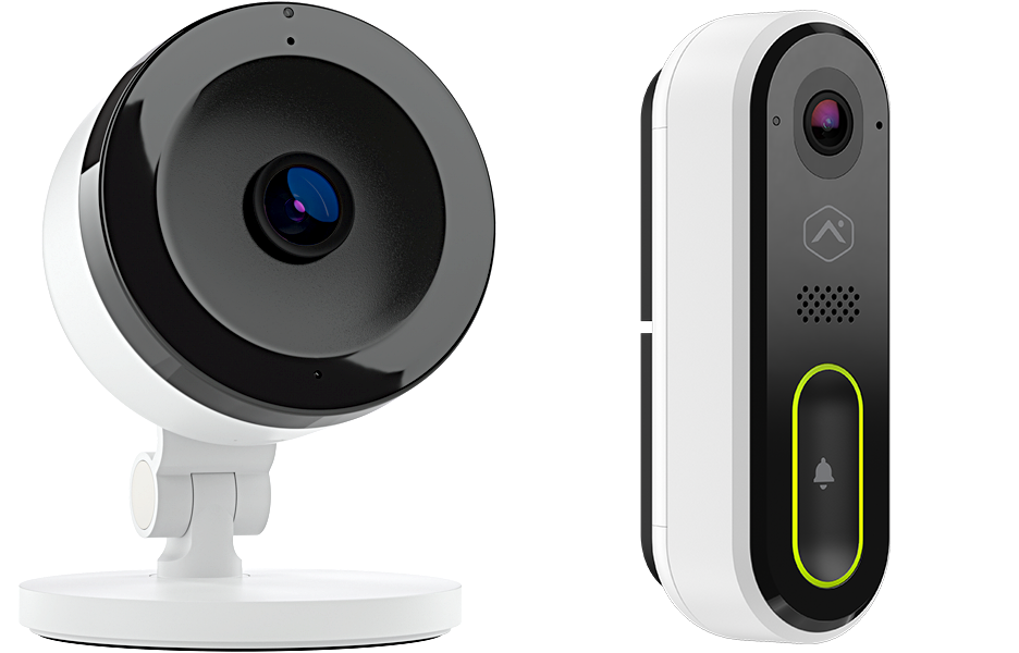1 indoor camera and 1 WiFi doorbell camera