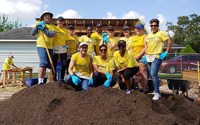 Reliant employees volunteering in their community