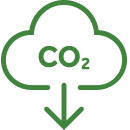 Lowering CO2 icon